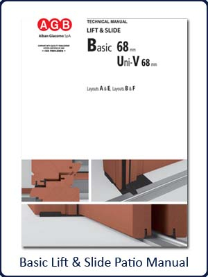 AGB Basic Lift & Slide Patio Manual