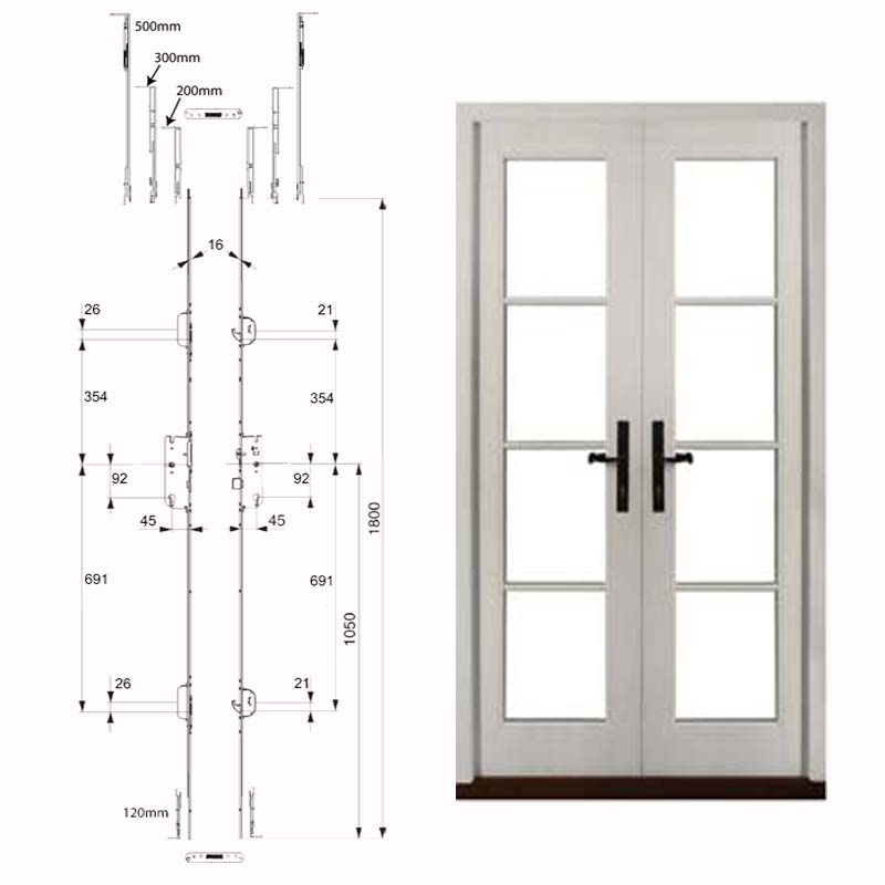 Double Doors With Twin Handles