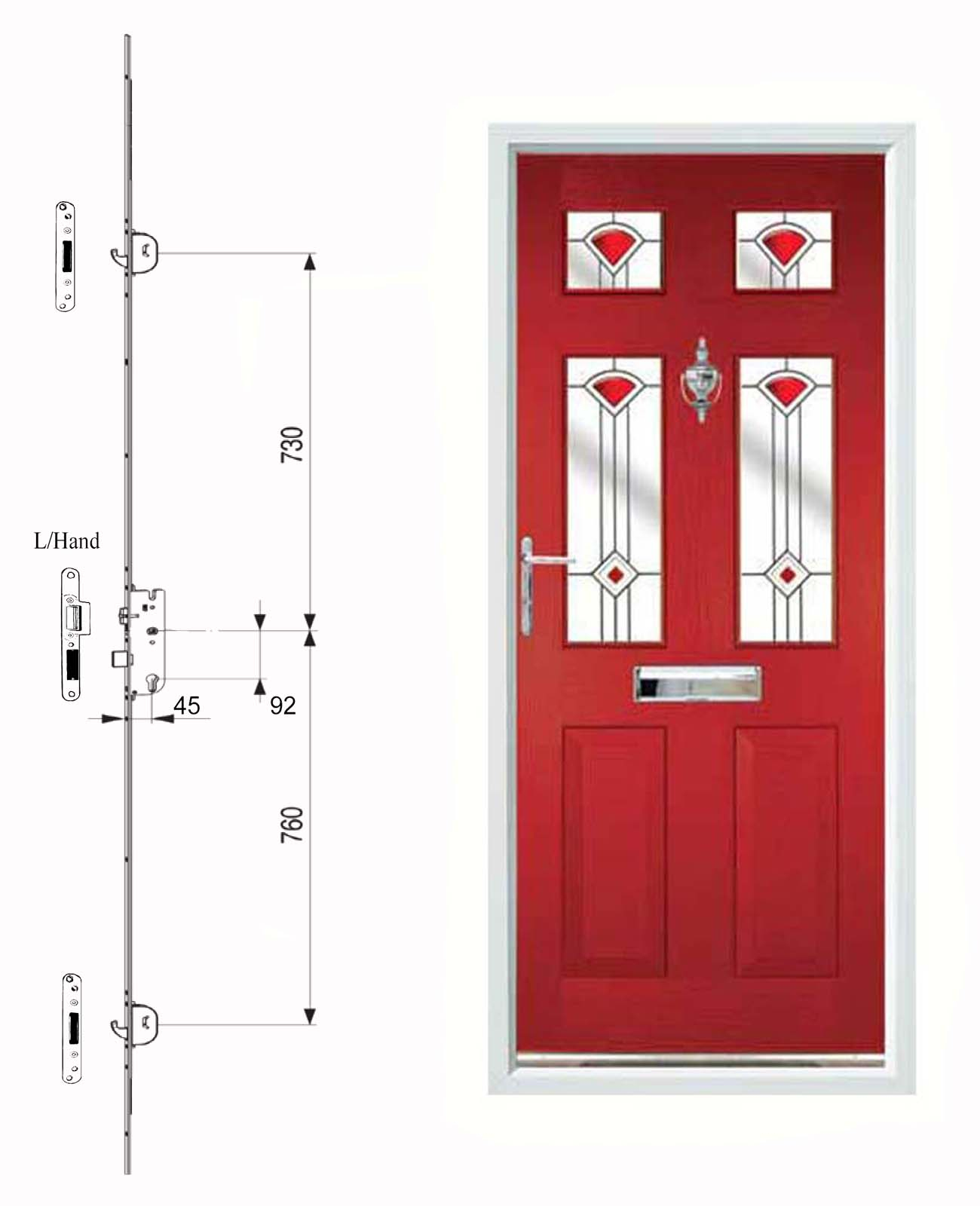 Type A Door And Lock with Keeps