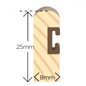 Wood Parting Bead