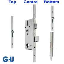 GU 2 Roller Latch Deadbolt And Bottom S/Bolt 35mm B/set 92mm Ctr