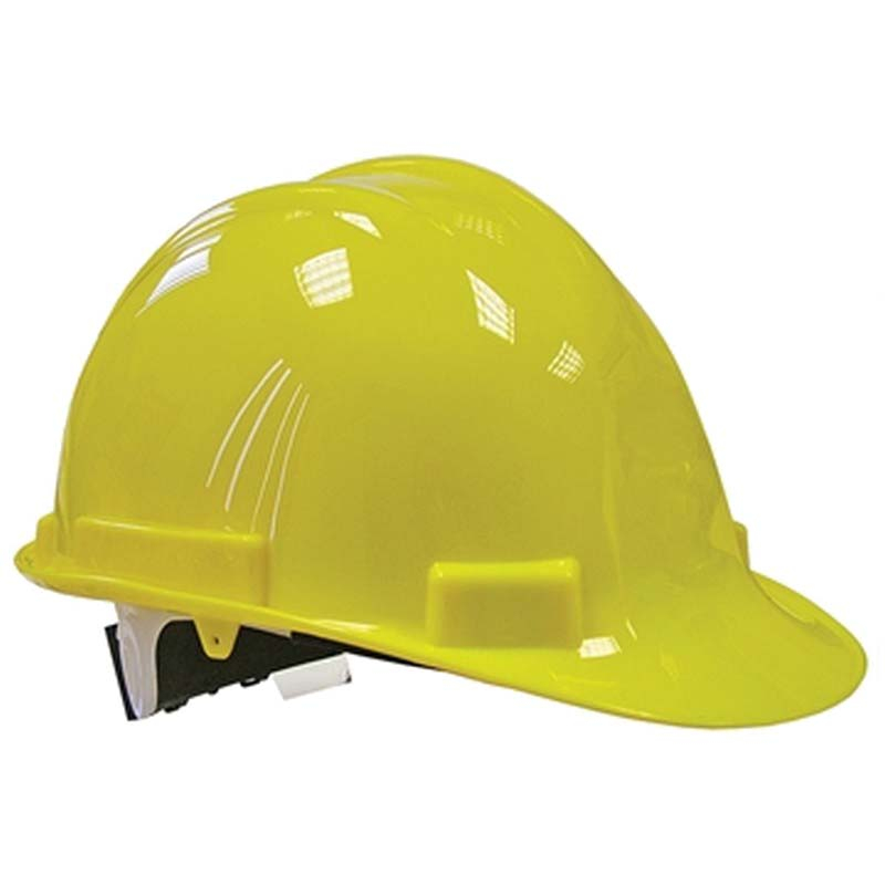 Yellow Deluxe Safety Helmet